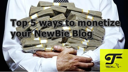 Top 5 ways to monetize your NewBie Blog