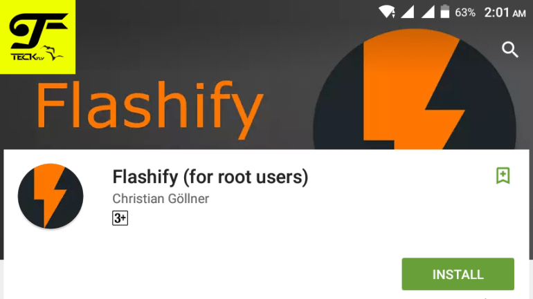 Flashify apk - Flash Custom Recovery and Boot img using Flashify Apk