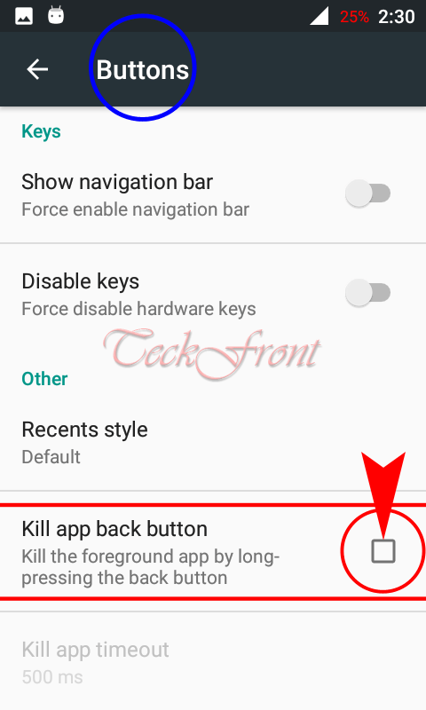 How to Activate Kill App Back Button in Android 6 x