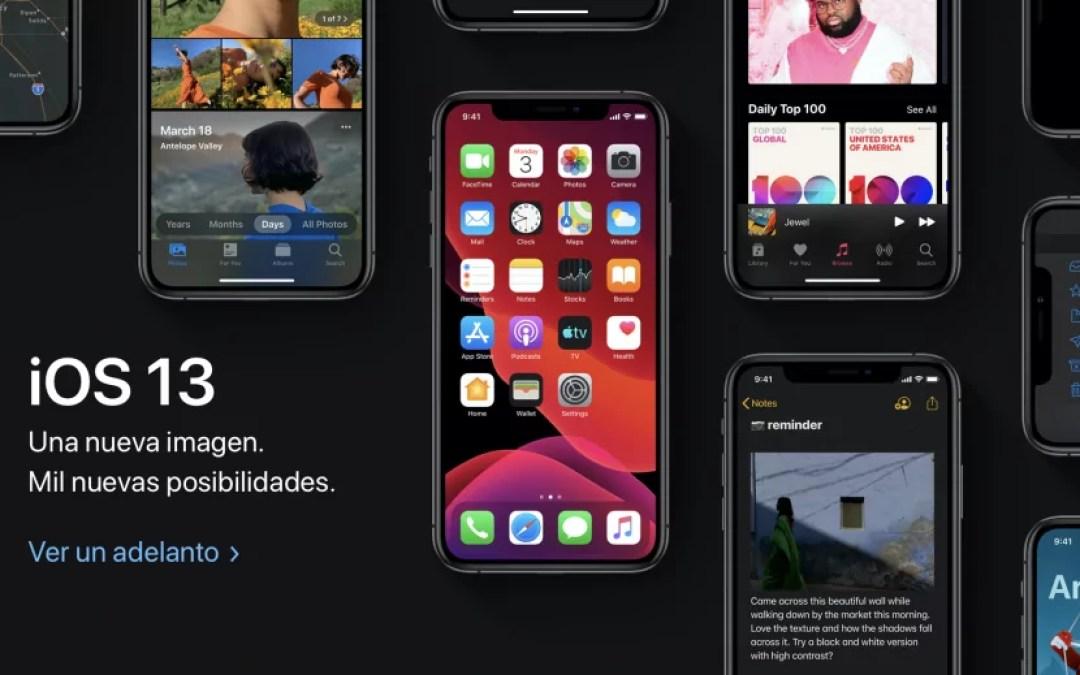 Avance de iOS 13, el sistema operativo de iPhone que saldrá en septiembre