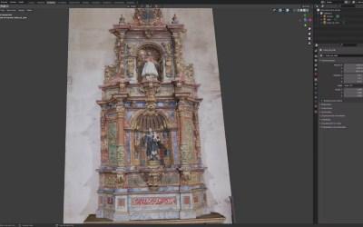 Escaneado en 3D en interior de Iglesia