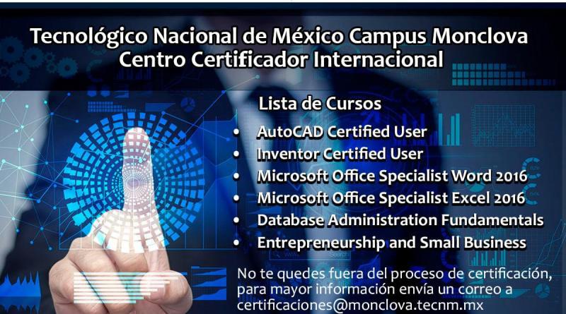 Cursos de Certificación
