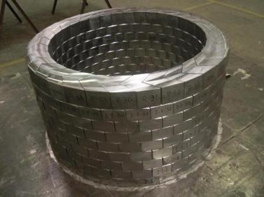 Ladrillos de plomo circulares