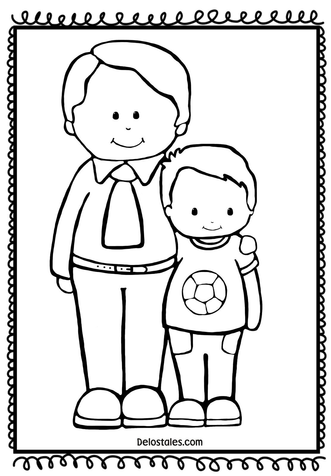 Dibujos Para Colorear Para El Dia Del Padre