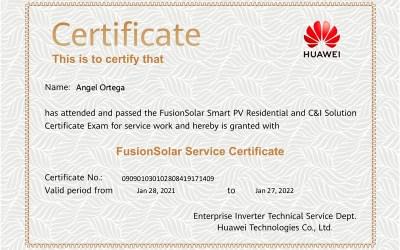 También somos instaladores certificados por Huawei