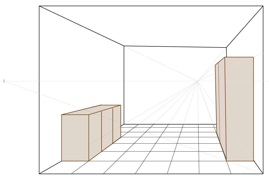 Disegno Camera Da Letto In Prospettiva