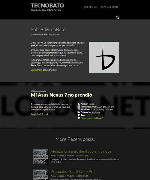 TecnoBato vistiend el tema: Lozbo Net