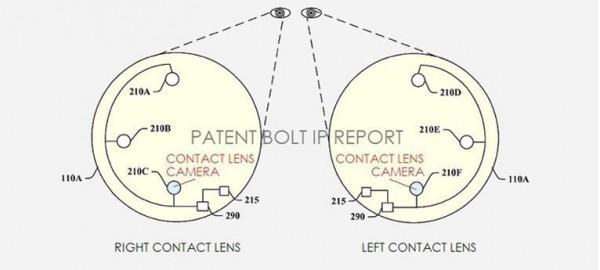 Patente Google: lentes com câmera
