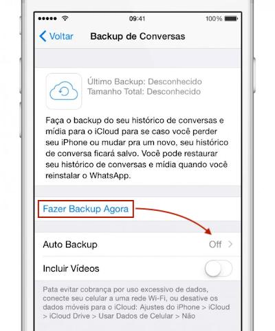 Como fazer backup das conversas no WhatsApp 3
