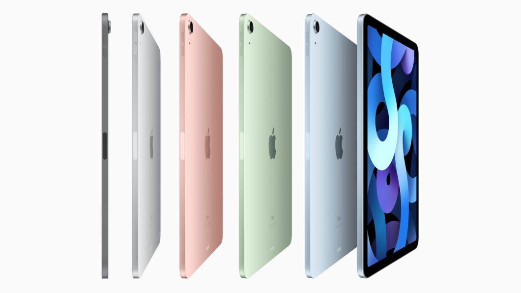 Novo iPad Air com suas novas cores Rose, Verde e Azul