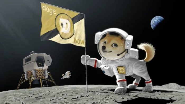 Elon Musk has already suggested taking dogecoin to the Moon by publishing an illustration at the end of February (Image: Reproduction/Twitter)