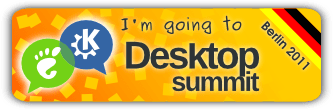 """I'm going to Desktop Summit 2011 in Berlin"" banner"