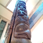 Totem pole in the Royal Ontario Museum. The backstory for this one was trippy.