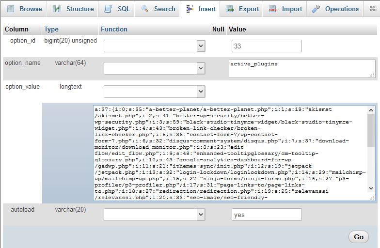 Como Desactivar Plugins no WordPress Através da Base de Dados