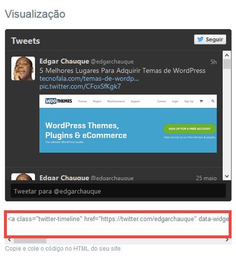 Como Inserir a Linha de Tempo do Twitter no WordPress
