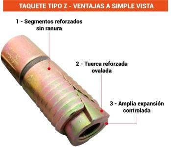 Taquete Tipo Z