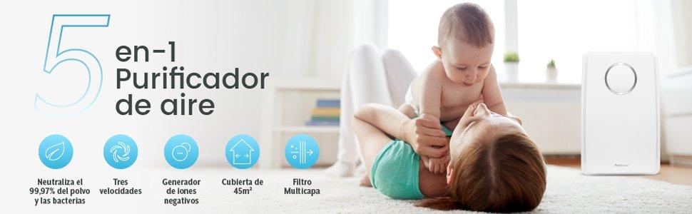 Si estás pensando en mejorar el aire de tu hogar, te presentamos el Purificador de Aire Pro Breeze 5 en 1 - Imagen 5 - TECNOFRIKIS