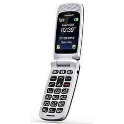Teléfono móvil con Tapa para Personas Mayores, Teclas Grandes, Isheep SF213 gsm, Pantalla de 2,4 Pulgadas, tecla de Emergencia, cámara (Negro)