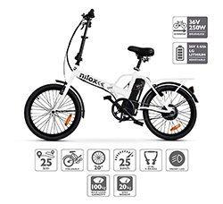 Nilox 30NXEB140V003 Bicicleta eléctrica, Unisex Adulto, Blanco, Talla Única