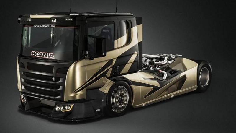Empresa faz caminhão Scania ficar mais rápido que carro esportivo