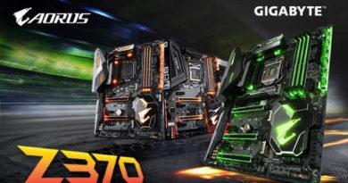 GIGABYTE lança placas-mãe AORUS Z370