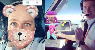Pilotos são suspensos por usar o Snapchat durante o vôo