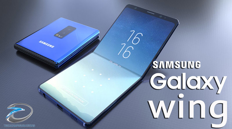 Especificações do smartphone dobrável samsung galaxy wing