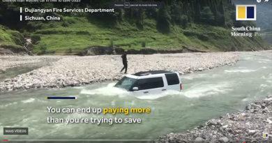 Chinês tentou economizar US$ 3 com lavagem de carro, mas algo deu errado