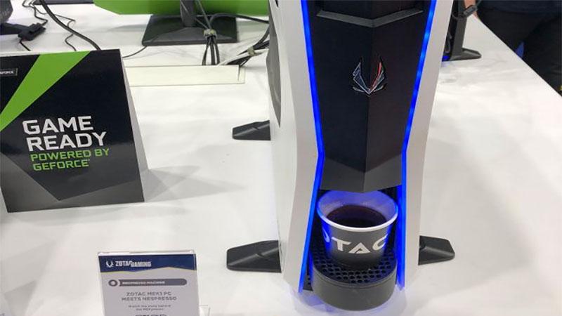 Mek1 Nespresso - Primeiro PC do mundo com cafeteira embutida