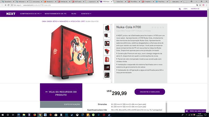 NZXT lança gabinetes personalizados com a marca Nuka-Cola