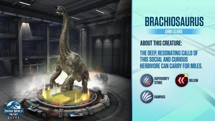 Braquiossauro - Jurassic World Alive