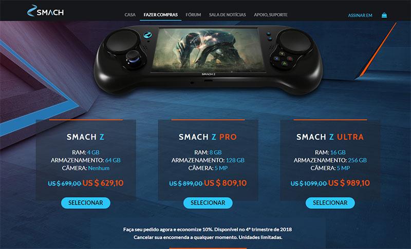 SMACH Z - Primeiro console portátil que roda jogos de PC