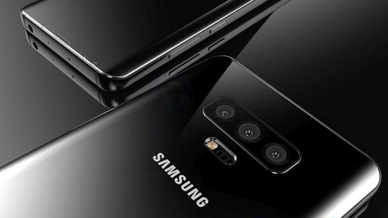 Samsung Galaxy S10 com câmera tripla