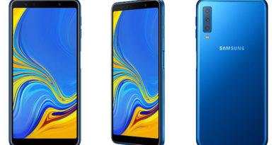 Samsung lança Galaxy A7, seu primeiro smartphone com câmera tripla