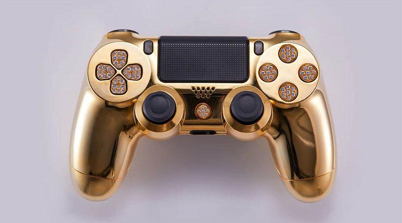 Veja este controle de PlayStation 4 banhado a ouro e que custa US$ 14.000
