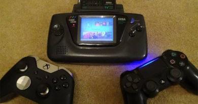 Imagina jogar PS4 ou Xbox One em um Game Gear da sega