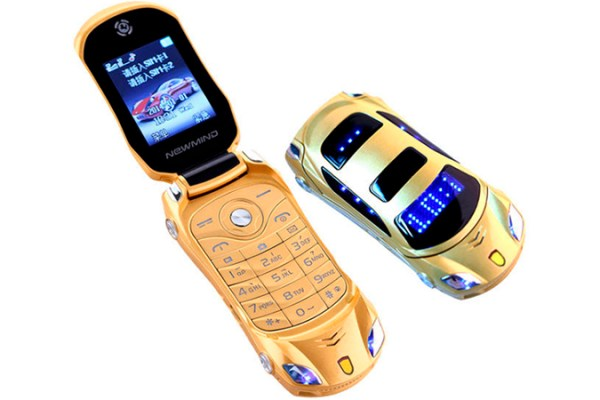 Parece carrinho de brinquedo, mas é um celular que funciona de verdade