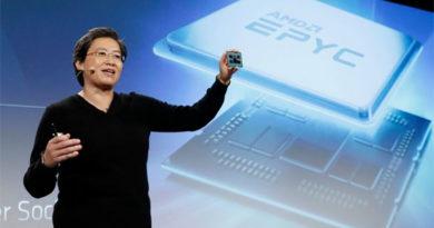 AMD revela CPU Epyc Rome Zen 2 de 64 núcleos com arquitetura de 7 nanômetros