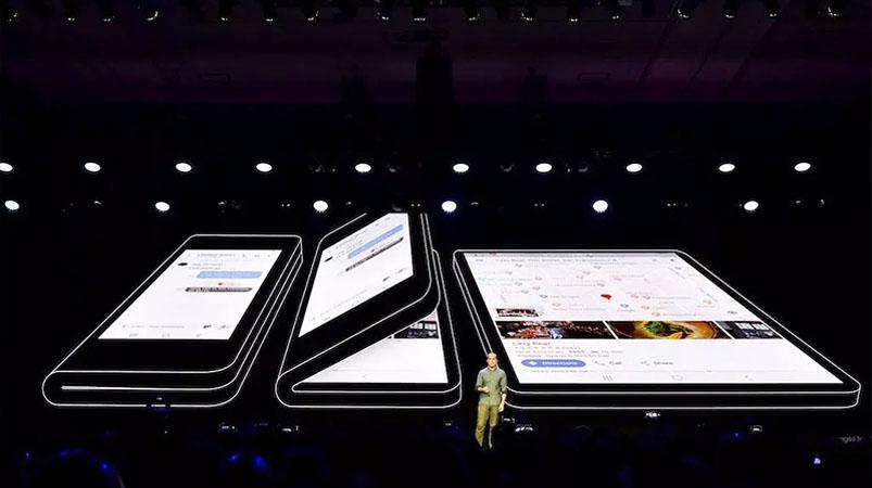 Smartphone dobrável da samsung é revelado oficialmente