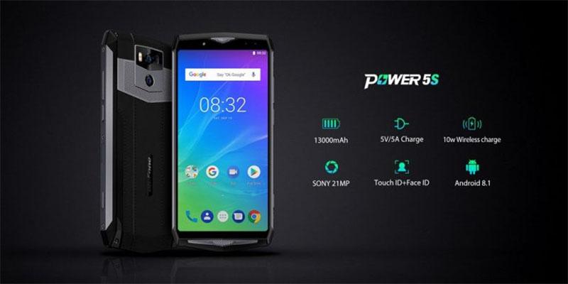 Ulefone Power 5S possui uma poderosa bateria de 13000mAh e quatro câmeras