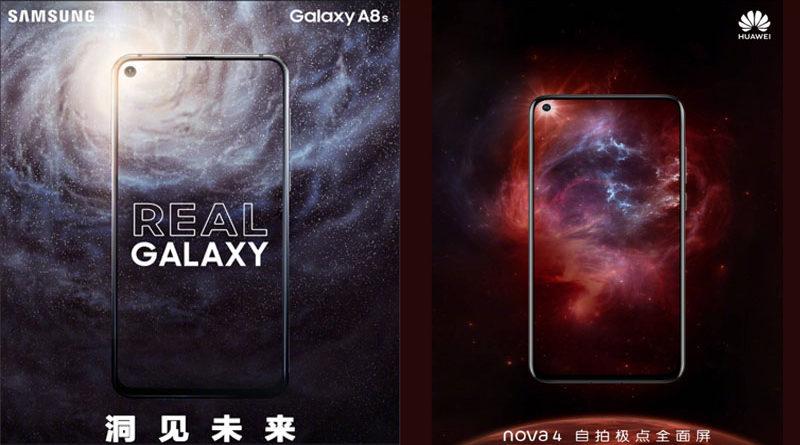 Samsung Galaxy A8s e Huawei Nova 4 tem lançamento previsto pra dezembro