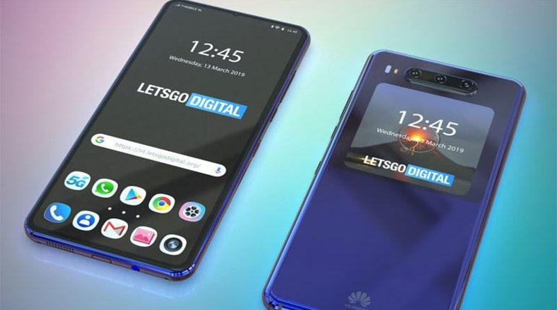 Huawei tem patente de smartphone com tela secundária na parte de trás