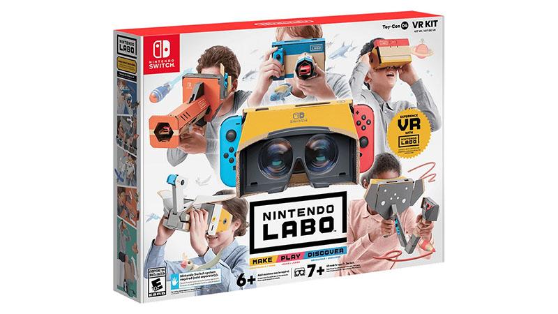 Nintendo Labo VR Kit chega para o Switch em abril
