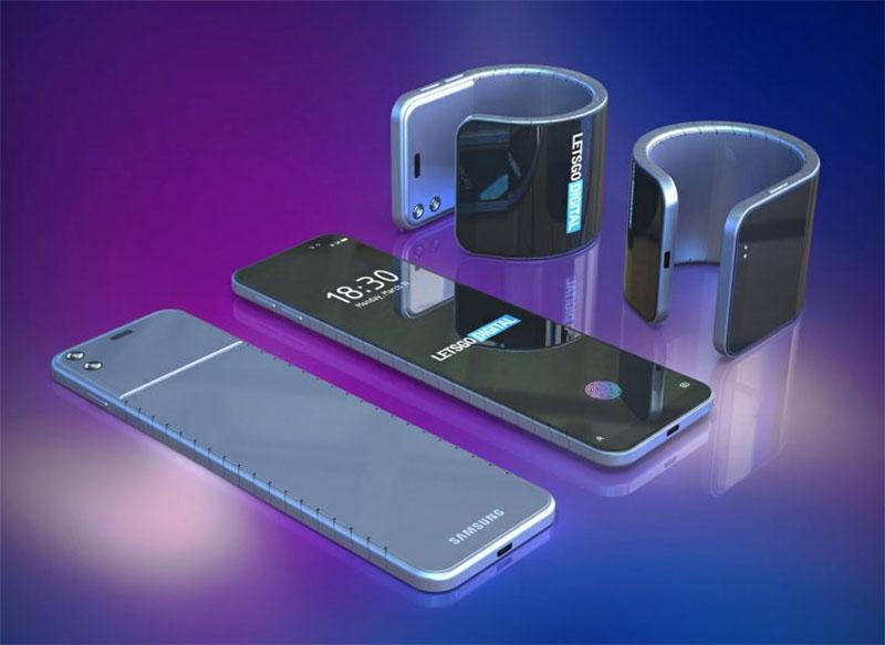 Nova patente mostra smartphone flexível da Samsung sendo usado como relógio de pulso
