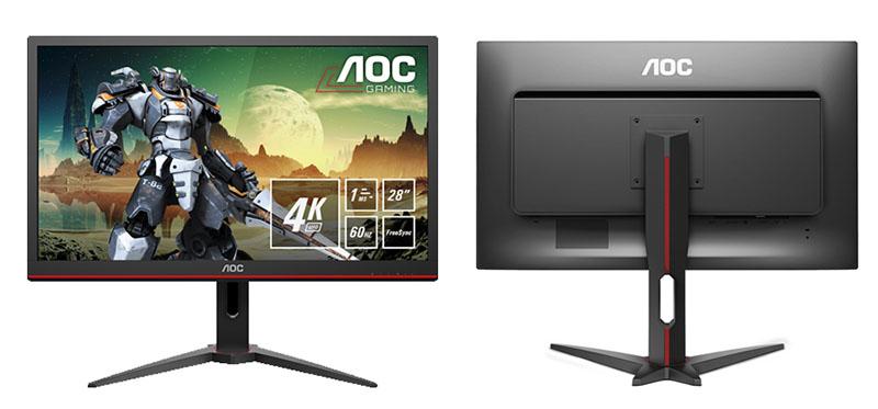 Novo monitor gamer de 28 polegadas da AOC chega com resolução 4K e HDR embutido