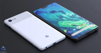 Possível design do Google Pixel 4