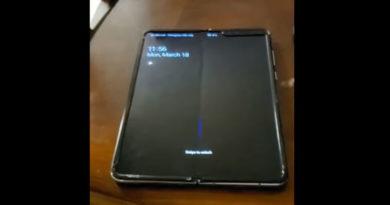 Vídeo mostra Galaxy Fold com vinco no meio da tela