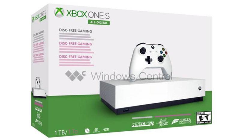Xbox One S All Digital Edition não terá entrada pra discos e deve ser lançado em 7 de maio