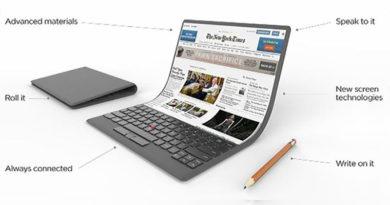 Lenovo apresenta conceito de Notebook com tela flexível