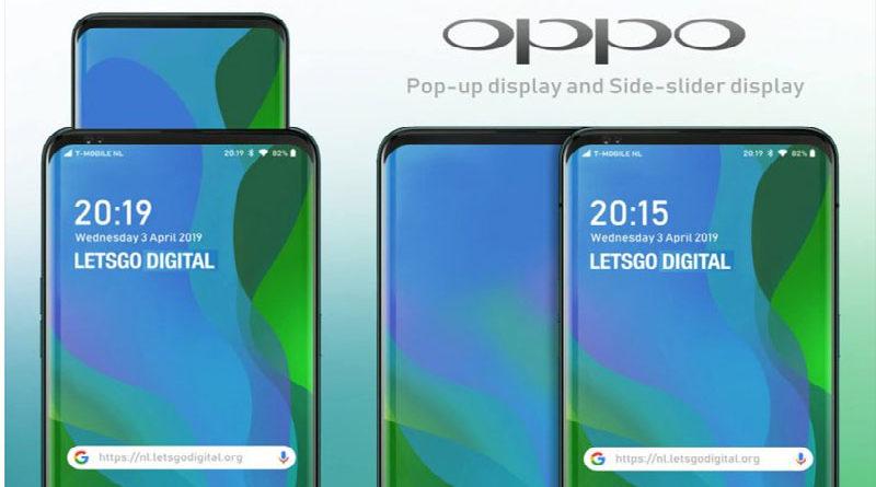 Patente da Oppo apresenta smartphones com tela pop-up e tela deslizante na lateral